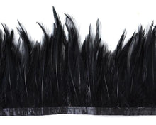 "Hackle feathers, 5-7"" on tape by the Yard (CHOOSE YOUR COLOR)"