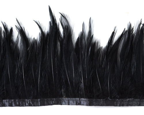 Black Saddles Feathers by the Yard