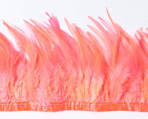 Coral Saddles Feathers by the Yard