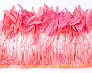 Pink stripped cocktail feathers