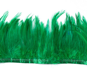 Emerald Saddles Feathers by the Yard