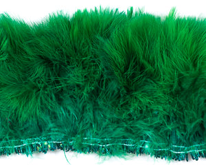 Emerald Marabou Feathers by the Pound