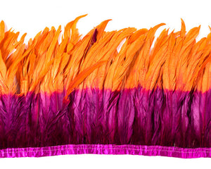 Orange and Fushia Cocktail Feathers by the Yard