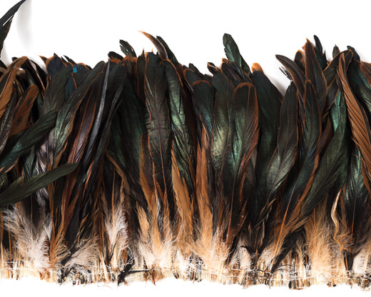 Half Bronze Cocktail Feather by the Pound 6-8 inches