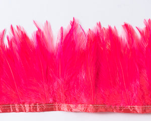 Hot Pink Saddles Feathers by the Yard