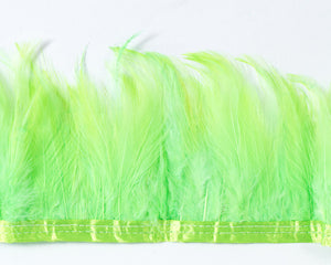 Lime Saddles Feathers by the Yard