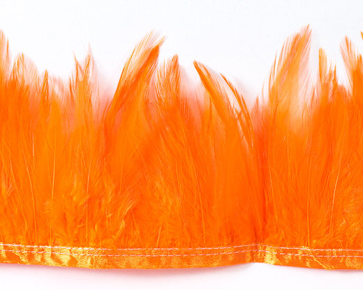 Orange Saddles Feathers by the Yard