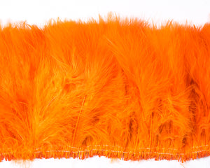 Orange Marabou Feathers by the Pound