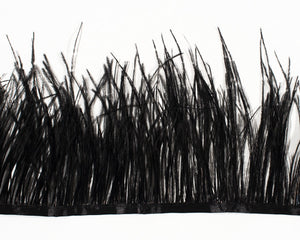 Black Ostrich Fringe Feathers by the Yard