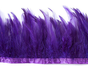 Purple Saddles Feathers by the Yard