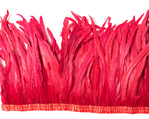 Red Cocktail Feathers 12 inches by the Yard