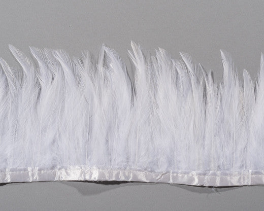 White Saddles Feathers by the Yard
