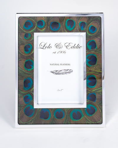 Peacock Eye Feather Picture Frame - The Arlo
