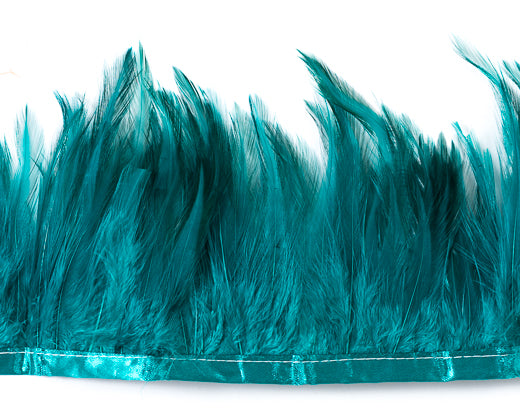 Teal Saddles Feathers by the Yard