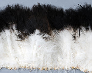 White with Black Tips Marabou Feathers by the Pound