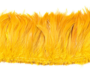 Yellow Saddles Feathers by the Yard