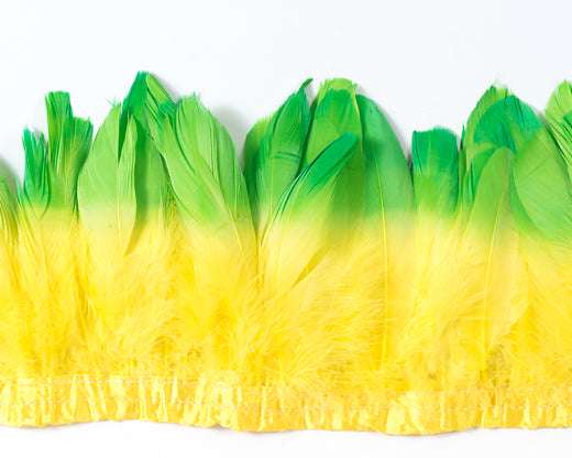 Double Dyed Nagoire Feathers by the Yard - CHOOSE YOUR COLOR