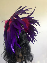Large White Pink Purple Feather Headpiece