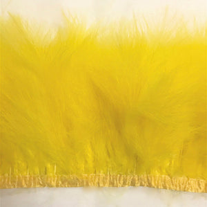 Marabou Feathers on ribbon by the Yard (CHOOSE YOUR COLOR)