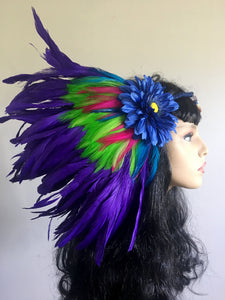 Blue Flower Headpiece