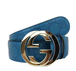 Gucci Guccissima Leather Interlocking G Buckle Belt 114876