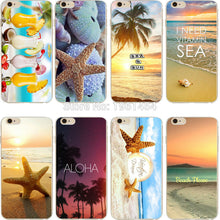 phone case Beach starfish landscape clear soft silicon TPU case cover fundas coque for iPhone 7 7plus 5S SE 6 6S 6plus 6Splus