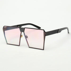 ROYAL GIRL Metal Unique Sunglasses Women Square Vintage retro ombre lens 2017 summer Fashion Glasses #SS936