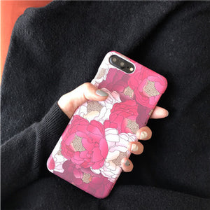 Spring Pink Flower for iPhone 6s 6 6plus 6splus Phone Case for Apple iPhone 7 7plus PC Hard Female Case feminists