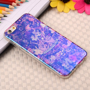 "Soft Gel Silicone Cases For Apple iPhone 6 6S 6G 4.7"" Blu-ray Printed Soft TPU Phone Protective Rubber Plastic Cover"
