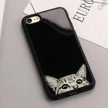 Simple White Cat dog Figure Cases For Iphone 7 6s Black white Case For iPhone 7 6 Plus 5 5S Soft Silicone Mirror  Cvoer Luxury