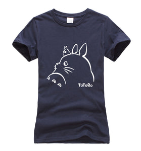 hot sale Anime Kawaii Totoro cartoon t shirt women 2017 summer cotton high quality harajuku women tops cute tee shirt femme S-XL