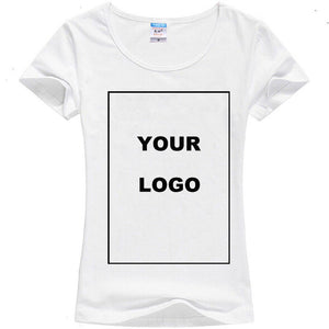 TEEHEART Customized T shirt Women Female Print Your Own Design High Quality Send Out In 3 Days White Color