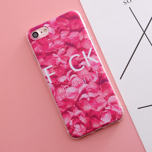 Soft Silicone Case for iphone 5s 5 SE 6 6s 6 7 plus for iphone 7 case Flowers Rose Daisy Fruit Plant Cactus pattern Phone Case