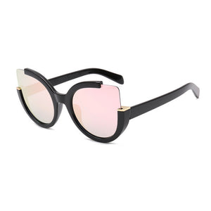 Vintage Fashion Cat Eye Sunglasses Sun Glasses For Women UV400 Quality lunette Oversized Ladies Sunglasses Women Brand Designer