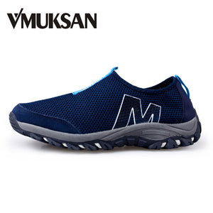 VMUKSAN Mens Casual Shoes BIG SIZE 39-45 Lightweight Summer Men Shoes Breathable Air Mesh Slip On Loafers For Men