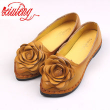 Xiuteng 2017 Shoe For Women Handmade Shoes Genuine Leather Soft Safe Flats Autumn Driving Shoes Pointed Toe Women Flats 5 Color