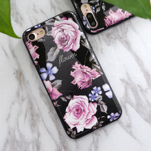 Soft TPU Case for iphone 5s 5 SE 6 6s 6/7plus New Flower Granite Scrub Marble Stone image Painted Phone Case For iphone 7 case