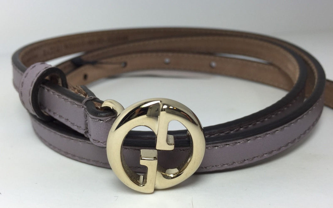 AUTHENTIC New Gucci($159) GG Buckle Thin Purple Leather Belt #362731, 28