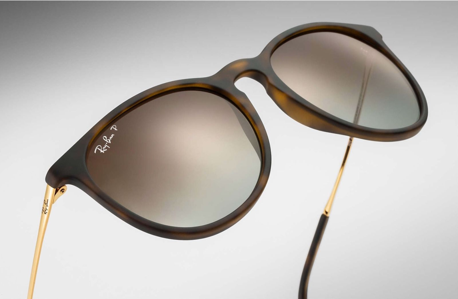 f38c23883ca ... Ray Ban Erika Polarized RB4171 Tortoise Gold Frame Brown Gradient Lens  54 mm ...