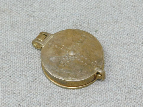 medieval bronze mirror case folding lid
