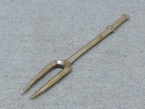 15th to 17thC Fork bronze two tine medieval
