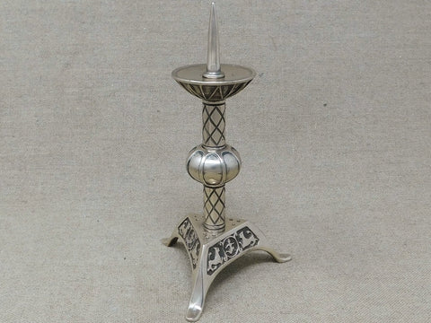 limoges bronze candle stick dover castle medieval table