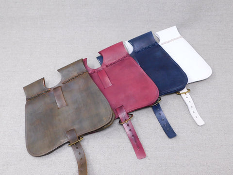 leather bollock pouch reenactment medieval LARP