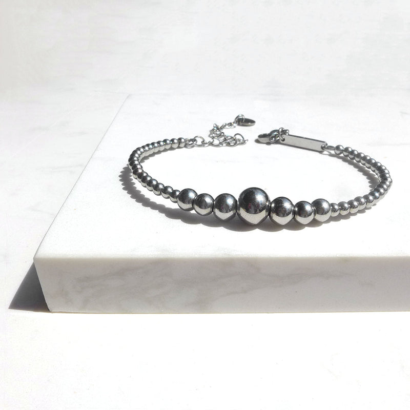 Stainless Steel Beaded Bracelet