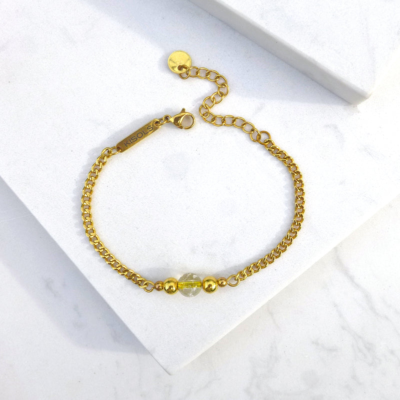 Lakshmi Golden Rutilated Quartz Bracelet