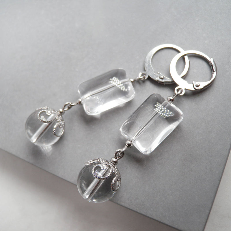 Quin Clear Quartz Earrings