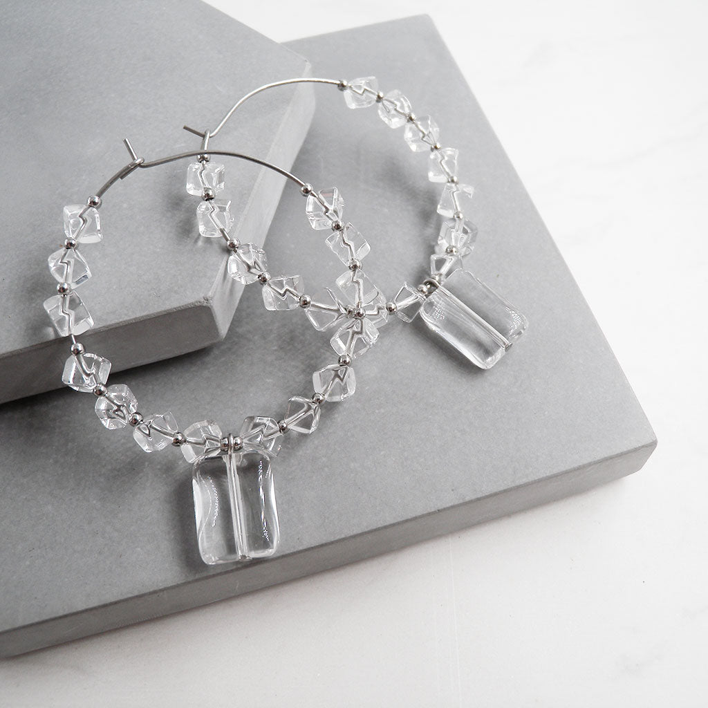 Candace Clear Quartz Earrings