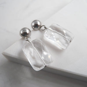 Aylen Clear Quartz Drop Earrings