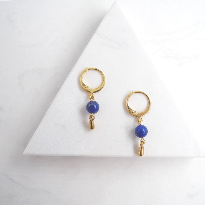 Mini Lapis Lazuli Dangle Earrings