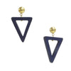 Wooden Triangle Drop Earrings